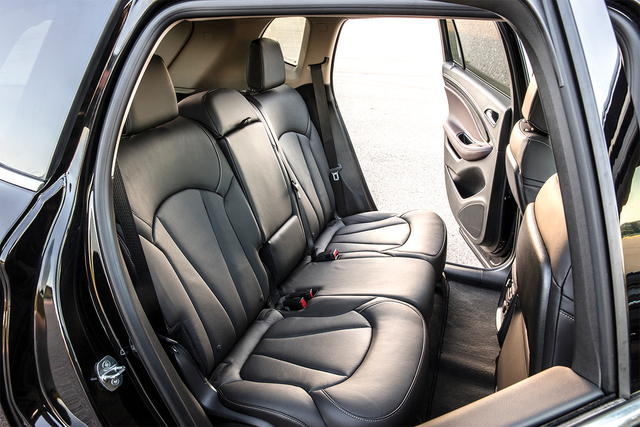 COURTESY GENERAL MOTORS The seven-passenger Enclave is big and the Encore is small, which makes the Envision the perfect fit for Goldilocks and four of her friends.