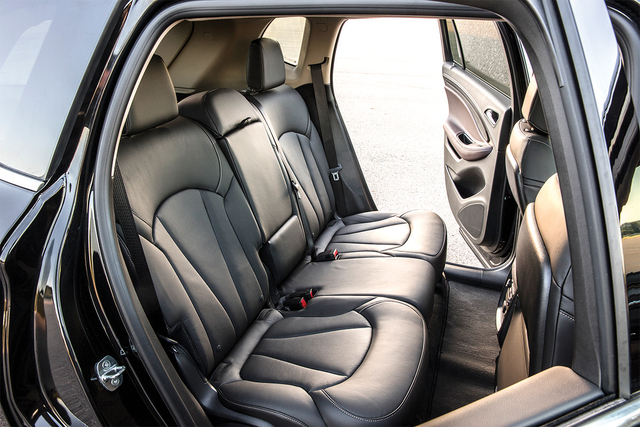 COURTESY GENERAL MOTORS The seven-passenger Enclave is big, and the Encore is small, which makes the Envision the perfect fit for Goldilocks and four of her friends.