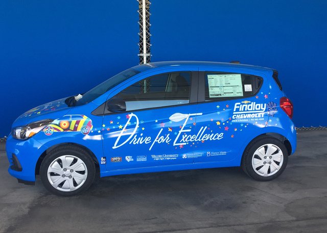 COURTESY For the third year, Findlay Chevrolet will award a 2016 Chevrolet Spark to a Clark County School District senior at the Drive for Excellence awards May 31 at Wet 'N' Wild.