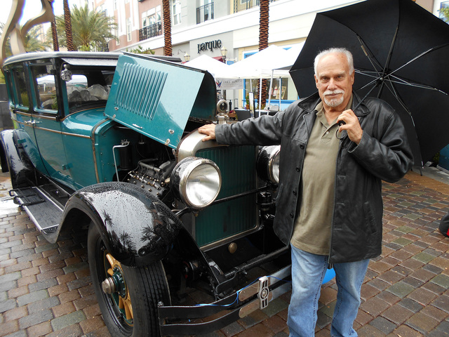 COURTESY Seattle resident Carl Fielding drove his 1927 Cadillac Sedan about 2,000 miles to participate in the 11th annual Cadillac Through the Years car show Sunday at The District at Green Valley ...