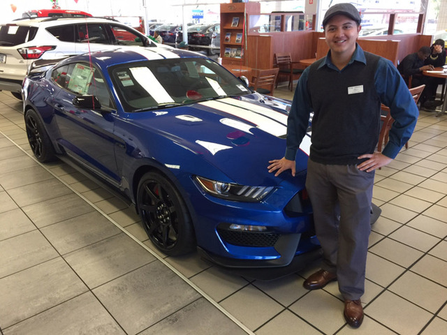 COURTESY Friendly Ford sales consultant Shane Caminos says the 2017 Shelby GT350R is one of Ford's greatest creations.