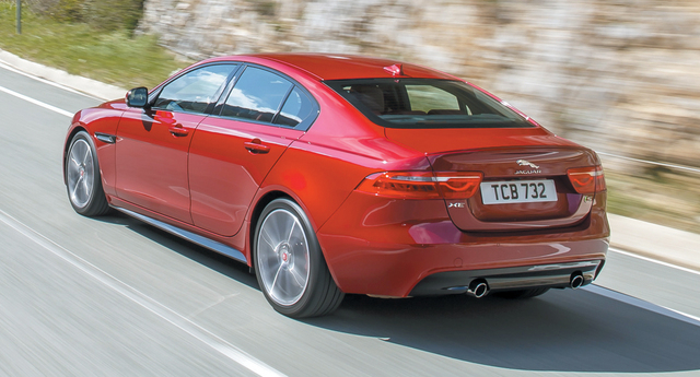 COURTESY JAGUAR When companies target the BMW 3-series, they don't mess around. The Jaguar XE has a lot of the same proportions as the 3-series sedan.