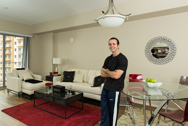 Michael Kelly, an East Coast native, recently purchased a one-bedroom home at One Las Vegas. He now enjoys panoramic city and mountain views from his balcony and resident-exclusive amenities, incl ...