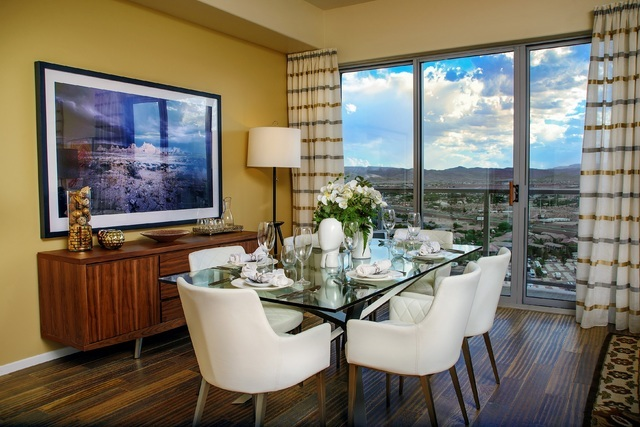 COURTESY The Wellington Hills at One Las Vegas is one of seventeen spacious floor plans available at the twin-tower high-rise condominium community. It features three bedrooms, 3.5 baths, a utilit ...