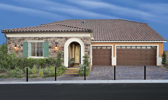 Pardee Homes Encanto is in southwest Las Vegas off Fort Apache Road, north of Sunset Road, and features single-story floor plans with loft options.  (Courtesy)
