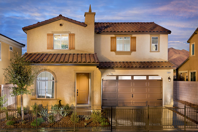 Pardee Homes is now offering its final homes, including a few move-in-ready plans, at its Solano neighborhood in Henderson's Inspirada master-planned community. Pictured is the Plan Two model ho ...