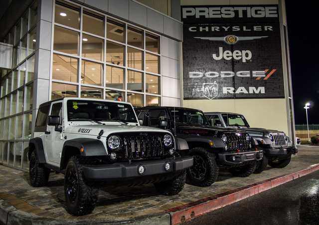COURTESY A wide variety of Jeeps is available at Prestige Chrysler Jeep Dodge Ram.