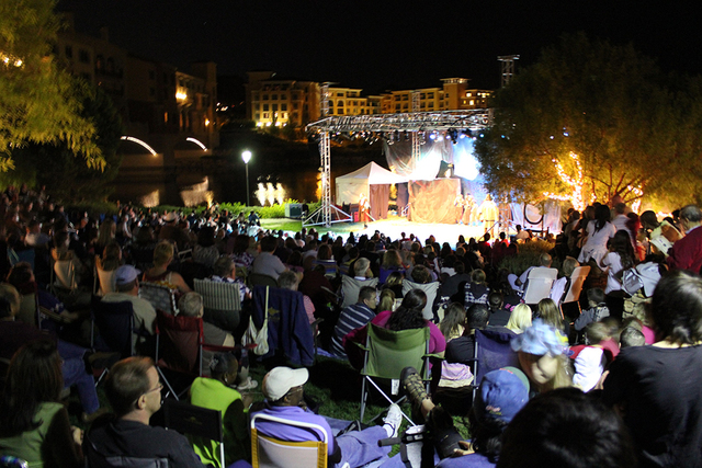 The William Shakespeare tragedy of Macbeth is being staged outside by the Shakespeare Institute of Nevada in MonteLago Village a Lake Las Vegas.  The free performance is Oct. 28. VIP seating is av ...