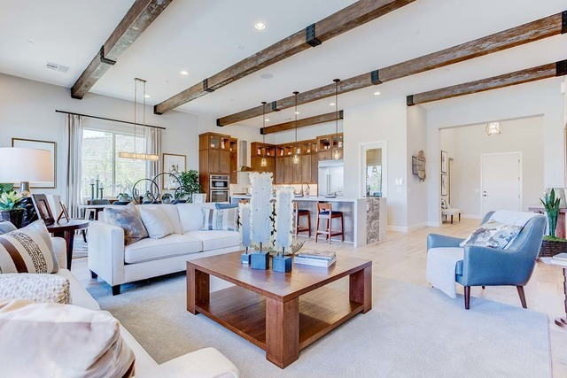 The well-appointed homes at Monte Lucca at Lake Las Vegas can include as many as six bedrooms and five baths and a three-car garage. New model homes are now open. (Courtesy)