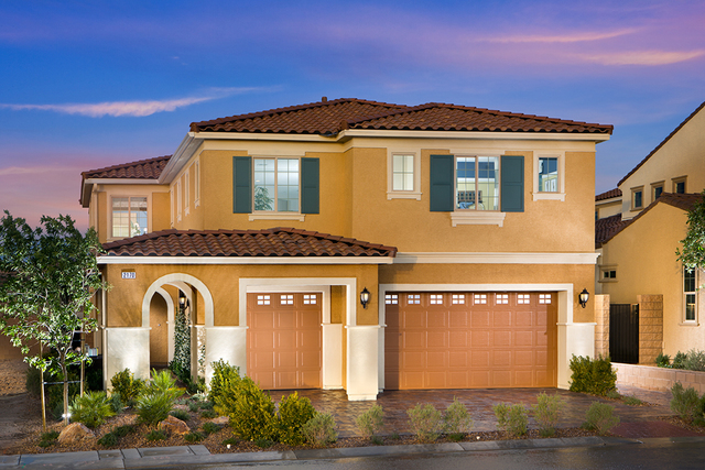 Pardee Homes has a limited number of move-in ready homes at its neighborhoods in the master-planned Inspirada community in Henderson, including a Bella Verdi Plan 4, shown here as the model home.  ...