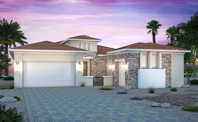 Monte Lucca by Century Communities is the new single-story gated community with tiered homes nestled into the Lake Las Vegas mountainside. Models are now open. (Courtesy)