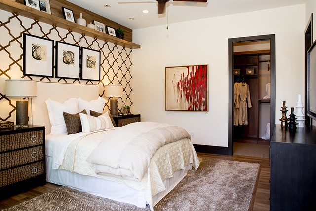 A master bedroom in one of Regency's new-home models. (TONYA HARVEY/RJRealEstate.Vegas)
