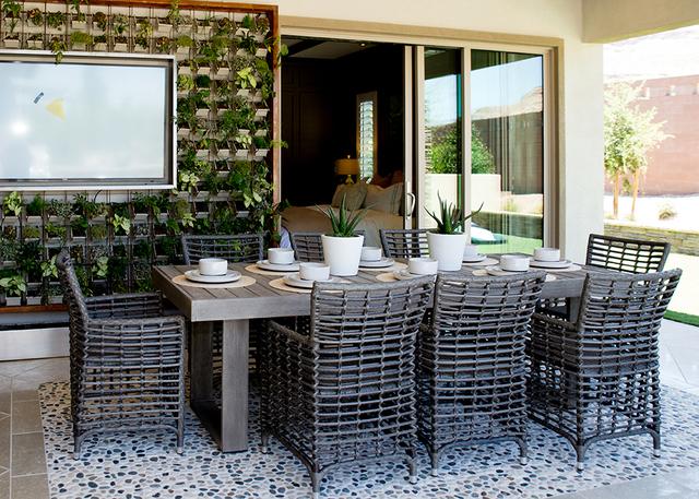 This Regency patio is off the master bedroom. (TONYA HARVEY/RJRealEstate.Vegas)