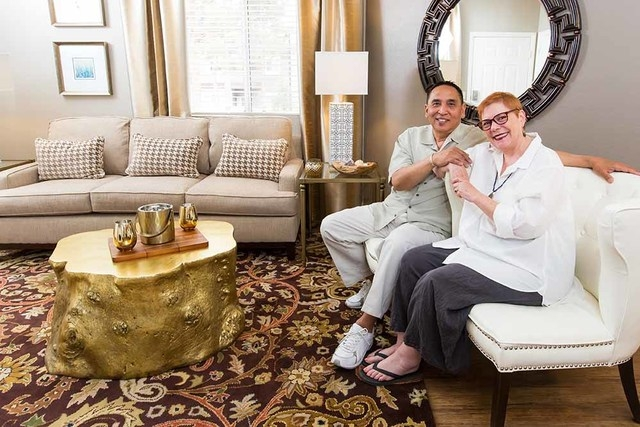Red and his wife, Suzanne, are Bay Area transplants who have just moved into their dream home at Spanish Palms. (COURTESY OF SPANISH PALMS)
