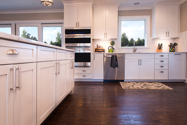 THINKSTOCK  The other thing that's again popular in modern kitchens: simple, white cabinets. People want a simple look that's less chic and busy.