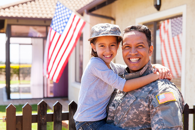 THINKSTOCK If you or your spouse served in the military or the National Guard, chances are you're eligible for a Veteran Affairs loan guaranty from the federal government.