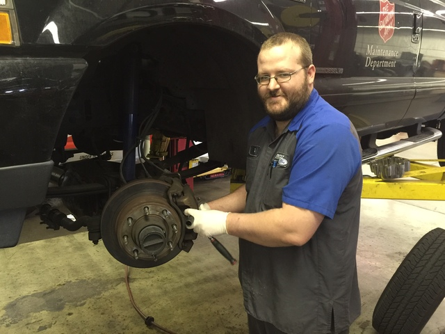 COURTESY Friendly Ford master tech Ryan Banning recommends that vehicle owners have their brake systems checked each time the oil is changed.