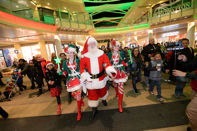 Santa Claus also arrives at Downtown Summerlin Nov. 18 and takes up residency in his Winter Wonderland-themed set sponsored by Summerlin Hospital Medical Center in the Macy's Promenade through D ...