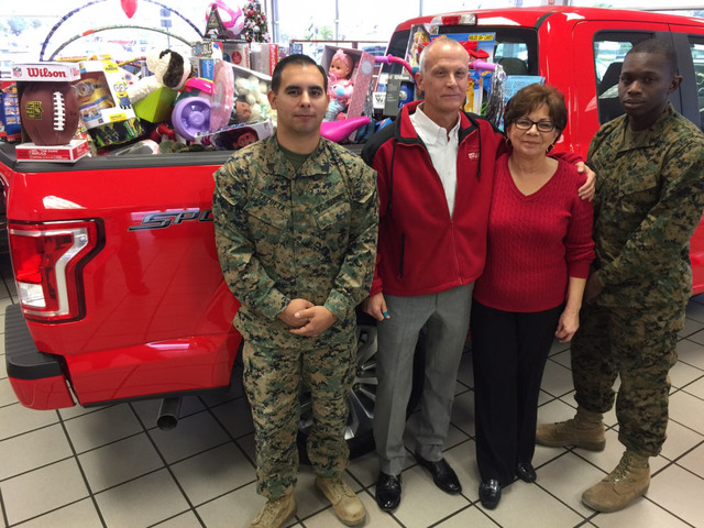 Las Vegas Toys For Tots : Toys for tots finds f full of gifts at friendly ford las