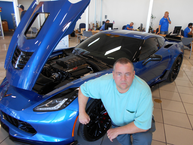 COURTESY Las Vegas businessman Steve Polk purchased a 2016 Chevrolet Callaway Corvette ZO6 off the showroom floor at Findlay Chevrolet in the southwest valley.