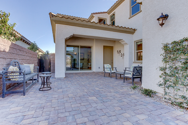 COURTESY OF CENTURY COMMUNITIES Century Communities features this courtyard at a home in Rhodes Ranch, a master-planned community in the southwest valley.