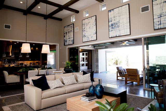 The indoor-outdoor living factor was a big part in designing the Regency models. (TONYA HARVEY/RJRealEstate.Vegas)