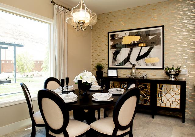 A dining room in one of the Regency model-homes. (TONYA HARVEY/RJRealEstate.Vegas)