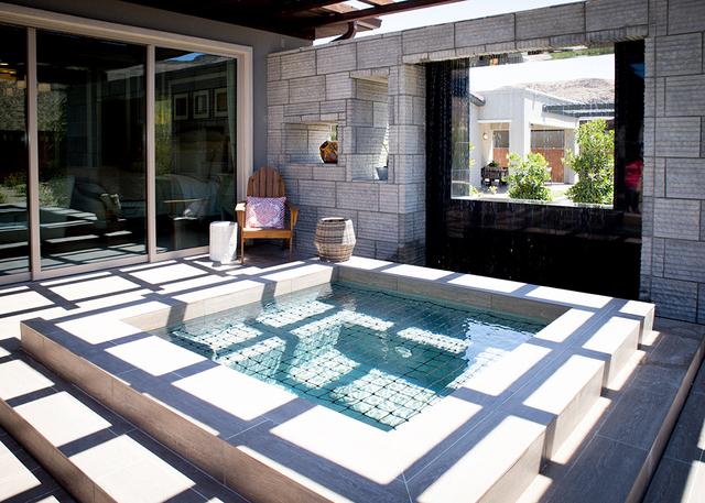 This backyard features a spa. (TONYA HARVEY/RJRealEstate.Vegas)