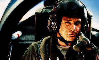 "The president of the United States (Bill Pullman) takes to the air to lead the attack on an alien mother ship in ""Independence Day"" (1996, PG-13)."