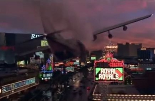 "A group of escaped prisoners crash-land a stolen plane on the Las Vegas Strip in 1997's ""Con Air."" (Touchstone Pictures/YouTube)"