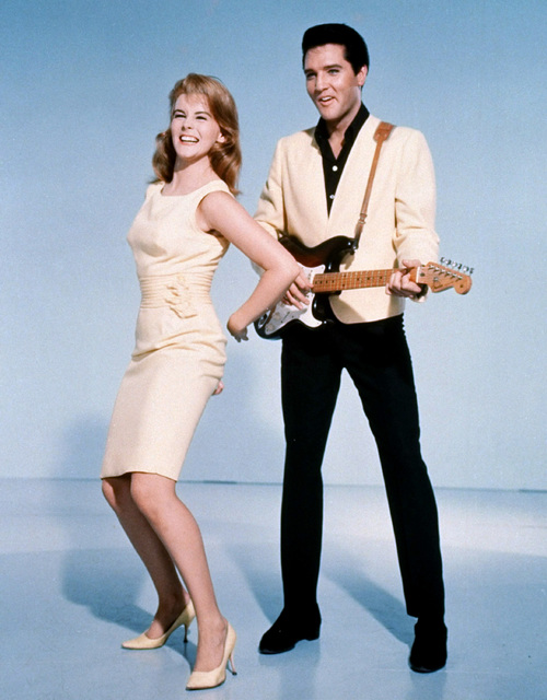 "Elvis Presley and actress Ann-Margret shown in a publicity photo for the 1964 film, ""Viva Las Vegas"".  (AP Photo)"