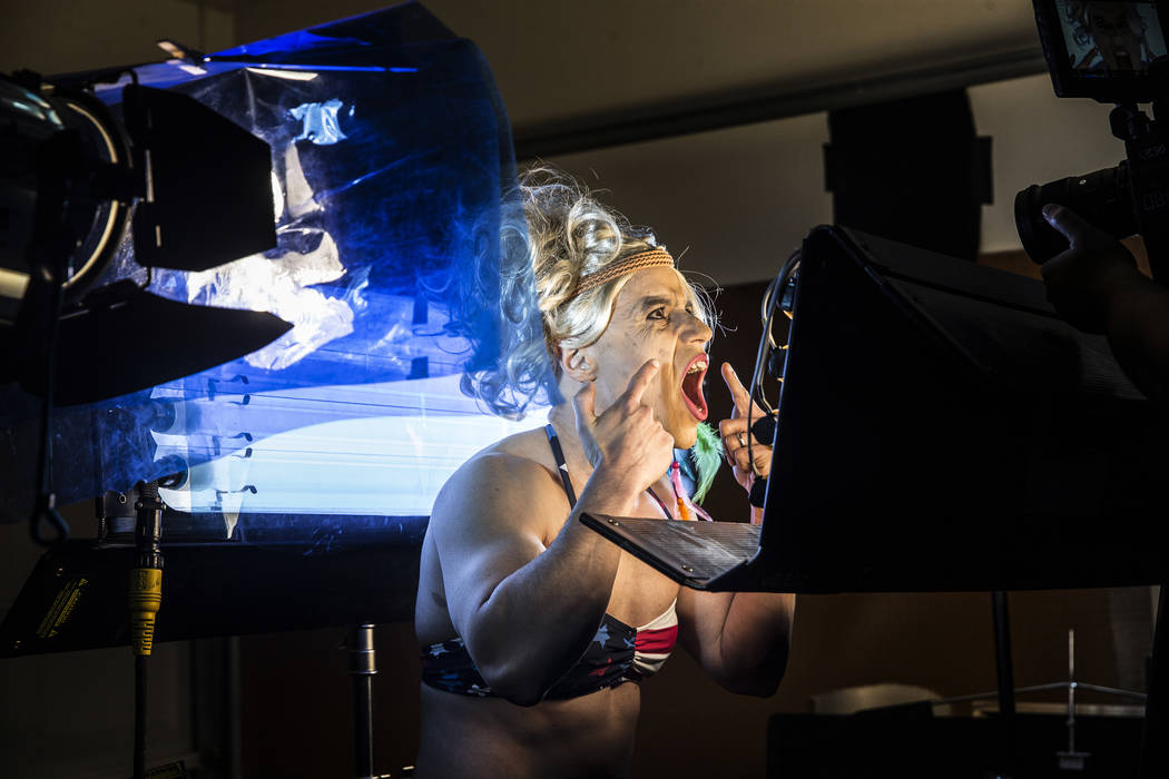 "Dr. Zubin Damania, AKA ""ZDoggMD,"" films a scene from his most recent video parodying Kesha's hit song 'Tik Tok' on Sunday, April 9, 2017, at Damania's studio, in Las Vegas. Dr. D ..."