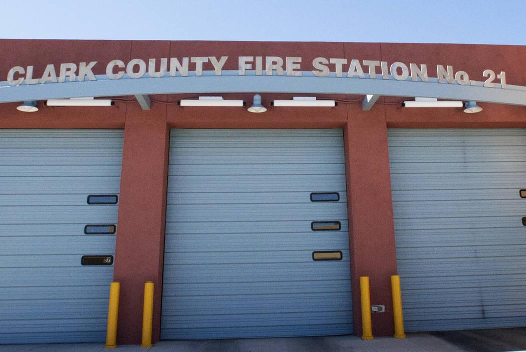 Clark County Fire Station at 5015 W Oquendo Rd, on Tuesday, May 2, 2017, in Las Vegas. (Bizuayehu Tesfaye/Las Vegas Review-Journal) @bizutesfaye