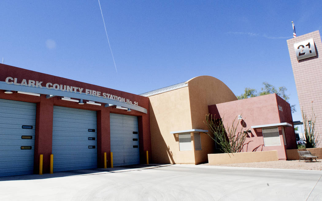 Clark County Fire Station at 5015 W Oquendo Rd, on Tuesday, May 2, 2017, in Las Vegas. Bizuayehu Tesfaye Las Vegas Review-Journal @bizutesfaye