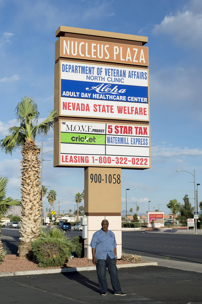 John Edmond at Nucleus Plaza on Friday, April 28, 2017, in Las Vegas. Edmond owned the plaza when it caught fire during the 1992 riots.  Bridget Bennett Las Vegas Review-Journal @bridgetkbennett