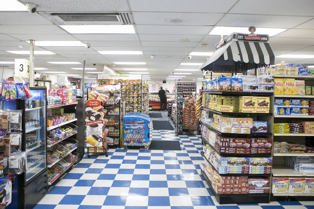 Items line the shelves at Mario's Westside Market on April 26, 2017 in Las Vegas. Bridget Bennett Las Vegas Review-Journal @bridgetkbennett