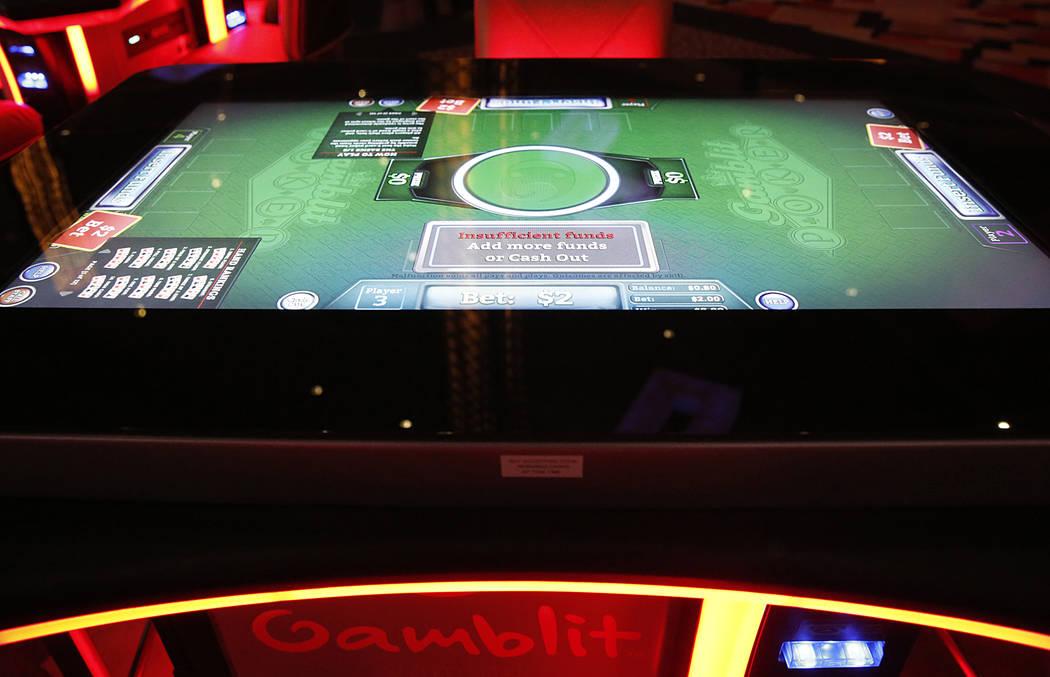 The new gambling machine by skills-based company Gamblit at Planet Hollywood hotel-casino on Thursday, April 20, 2017, in Las Vegas. (Bizuayehu Tesfaye/Las Vegas Review-Journal) @bizutesfaye