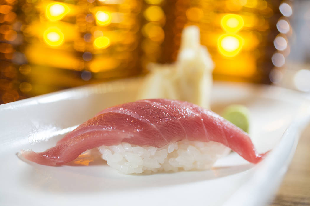 Guilt-free bluefin tuna at Morimoto on Friday, April 21, 2017, at the MGM Grand hotel-casino, in Las Vegas. Benjamin Hager Las Vegas Review-Journal @benjaminhphoto
