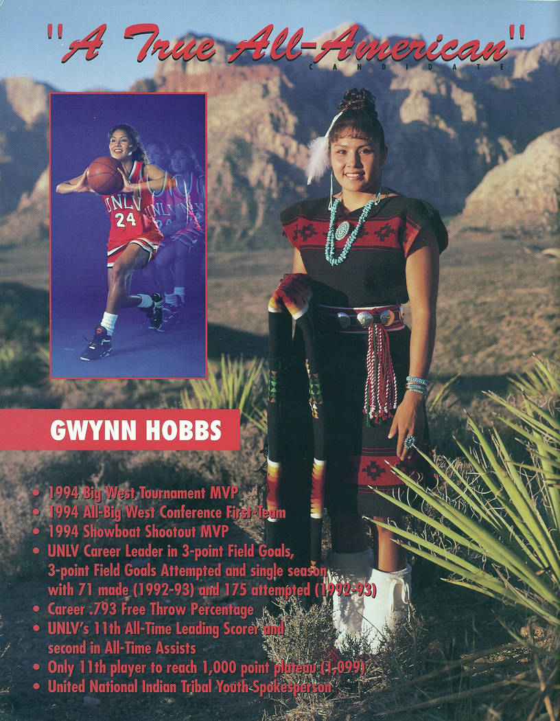 Gwynn Hobbs Grant during her playing days at UNLV. Photo courtesy of UNLV.