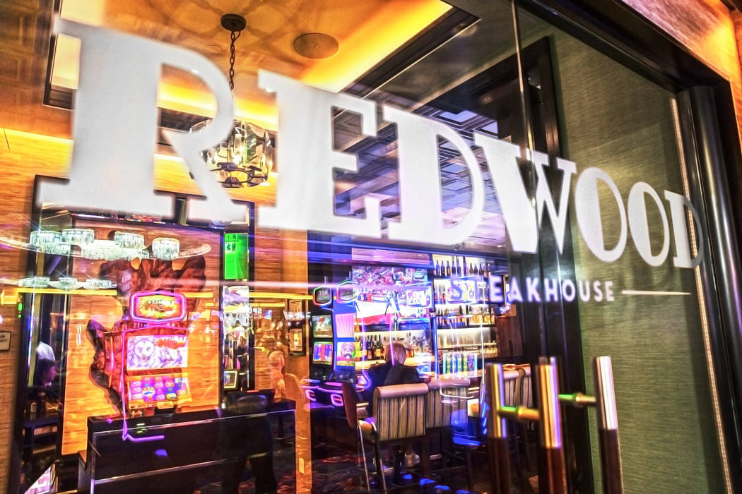 The Redwood Steakhouse on Tuesday, April 26, 2017, at the California hotel-casino, in Las Vegas. Benjamin Hager Las Vegas Review-Journal @benjaminhphoto