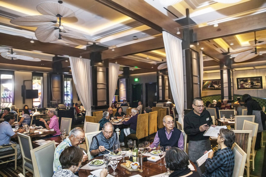 Dinner is served at Redwood Steakhouse on Tuesday, April 26, 2017, at the California hotel-casino, in Las Vegas. Benjamin Hager Las Vegas Review-Journal @benjaminhphoto