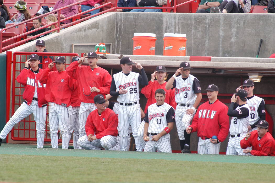 The 2003 UNLV baseball would go on to win the Mountain West tournament championship play in an NCAA regional. Photo courtesy of UNLV Athletics.