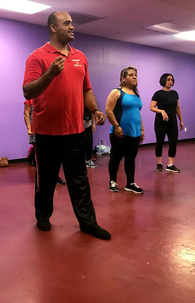 Jose Velez instructs a salsa dance class April 24, 2017, at Family Fitness Zum, 2083 N. Jones Blvd. Kailyn Brown/View