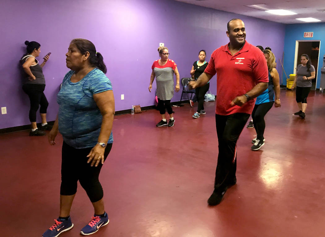 Jose Velez instructs instructs a salsa dance class April 24, 2017, at Family Fitness Zum, 2083 N. Jones Blvd. Kailyn Brown/View