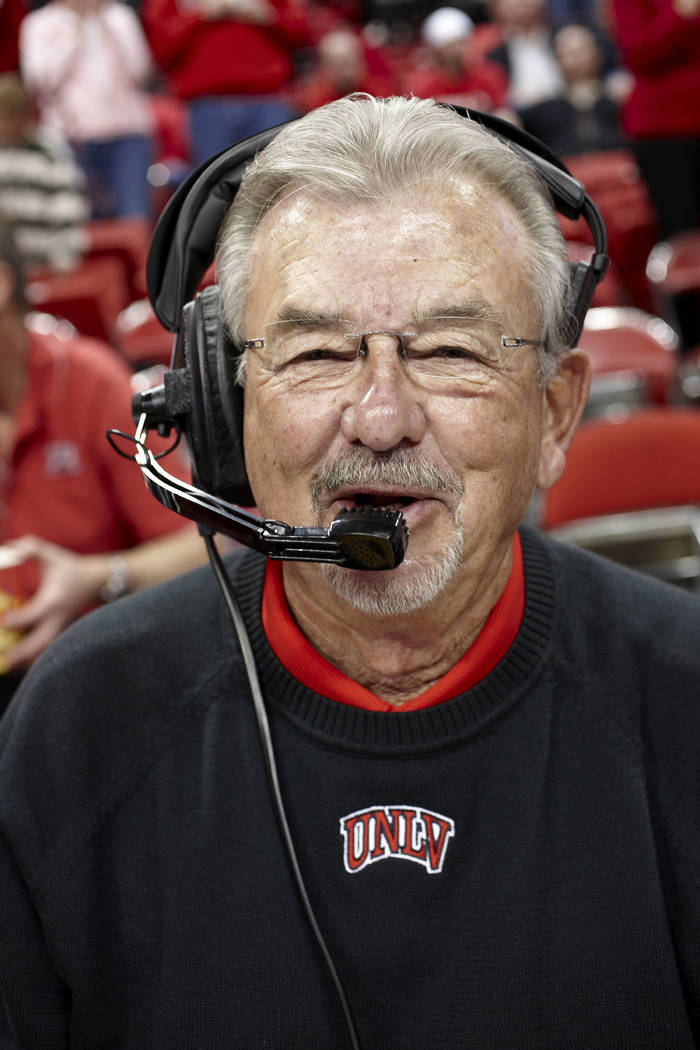 Longtime UNLV public address announcer Dick Calvert was inducted into the Rebels' athletic Hall of Fame on Thursday night as a Distinguished Contributor. Calvert estimates he has witnessed more th ...