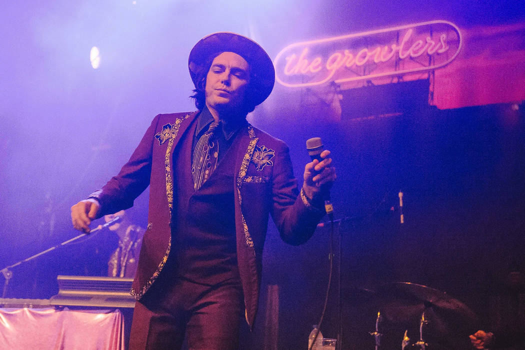 Brooks Nielsen of the American band The Growlers The Growlers concert, Electric Brixton, London, UK - 15 Nov 2016 (Rex Features via AP Images)