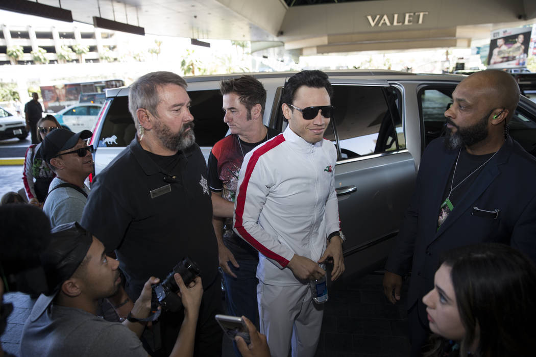Julio Cesar Chavez Jr., during his grand arrival to the MGM Grand hotel-casino on Tuesday, May 2, 2017, in Las Vegas. Erik Verduzco Las Vegas Review-Journal @Erik_Verduzco