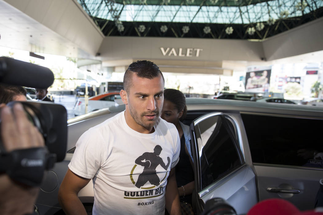 David Lemieux during his grand arrival to the MGM Grand hotel-casino on Tuesday, May 2, 2017, in Las Vegas. Erik Verduzco Las Vegas Review-Journal @Erik_Verduzco