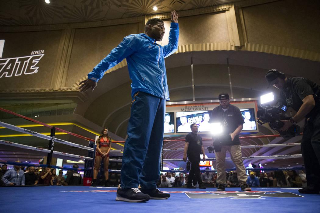 Yuriorkis Gamboa during a public boxing workout at MGM Grand on Wednesday, May 3, 2017, in Las Vegas. Erik Verduzco Las Vegas Review-Journal @Erik_Verduzco