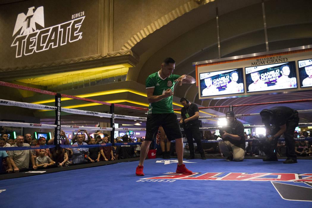 Marcos Reyes during a public boxing workout at MGM Grand on Wednesday, May 3, 2017, in Las Vegas. Erik Verduzco Las Vegas Review-Journal @Erik_Verduzco